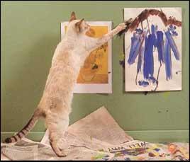 Non c'è male… Il tuo gatto è un artista!