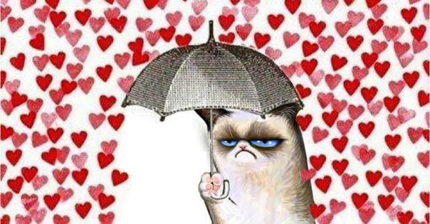grumpy cat cuori italiano