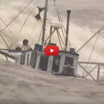 Marinaio salva il suo gatto dalla furia del mare in tempesta [VIDEO]