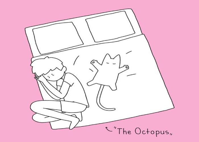 Le 10 posizioni nel letto che assume chi vive con un gatto - Giochi d amore nel letto ...