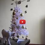 """Ecco """"l' aiuto"""" di un gatto nell'allestimento dell'albero di Natale [VIDEO]"""