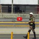 Poliziotto blocca il traffico per salvare un gattino [VIDEO]