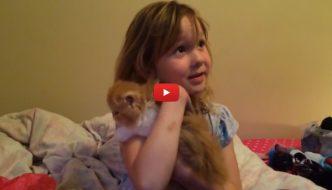 Compleanno speciale per una bimba: il regalo è un gattino [VIDEO]